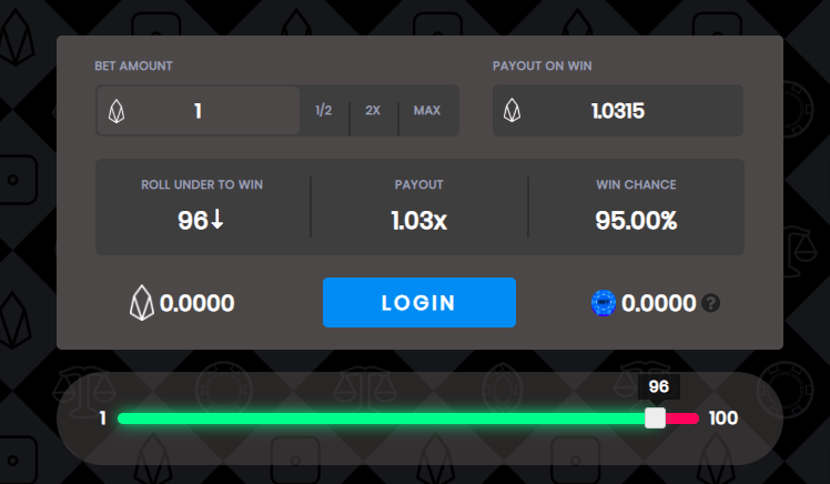 Trybe: How to Play Dice Game on EOS Bet