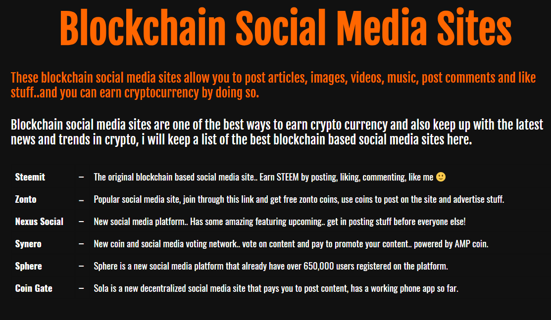 Trybe: BlockChain SOCIAL MEDIA Websites