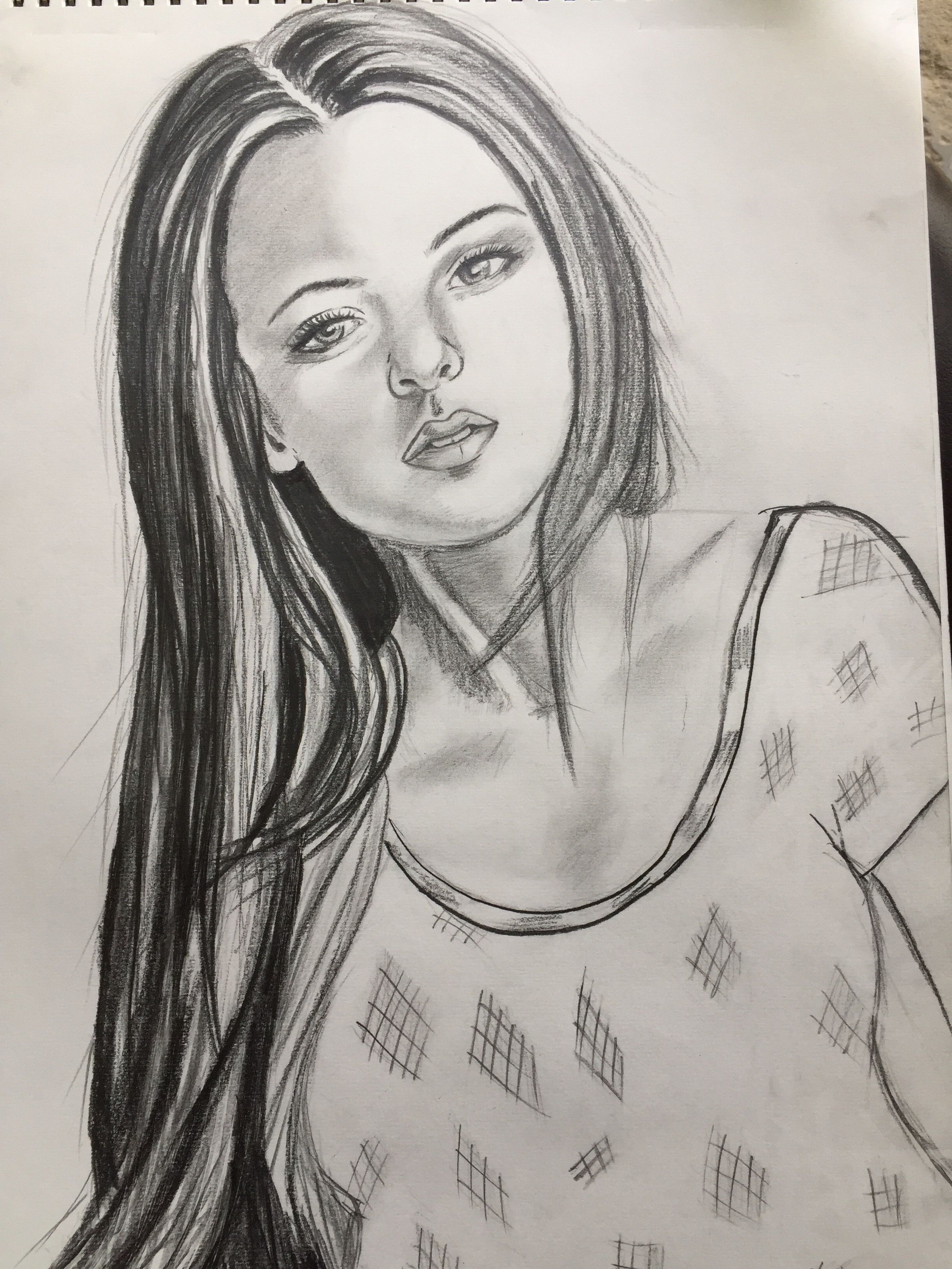 Friends this time its a complete pencil sketch of a beautiful girl i made with hb pencil and i am very happy to share it with all of you as this portrait