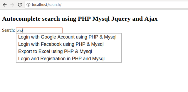 Trybe: How To Make Search Form Autocomplete With PHP and