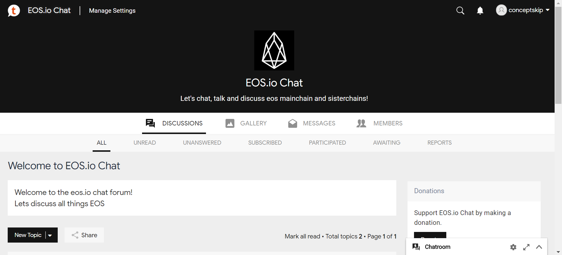 Trybe: What about Tapatalk adopting EOS?