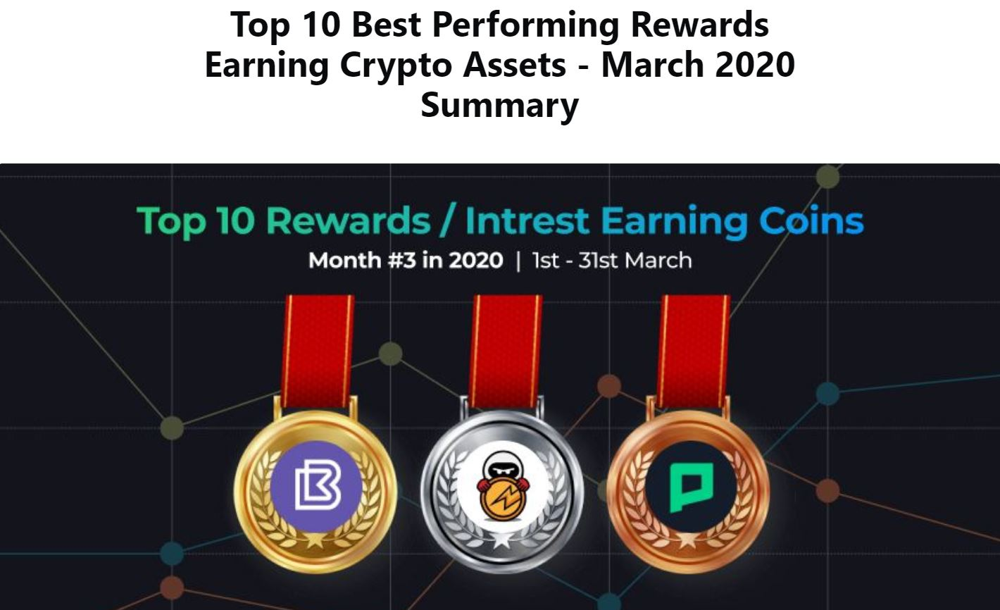 top cryptocurrency of the month